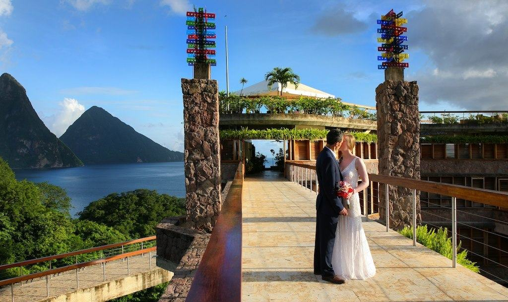 Jade Mountain Resort Wedding Modern Destination Weddings