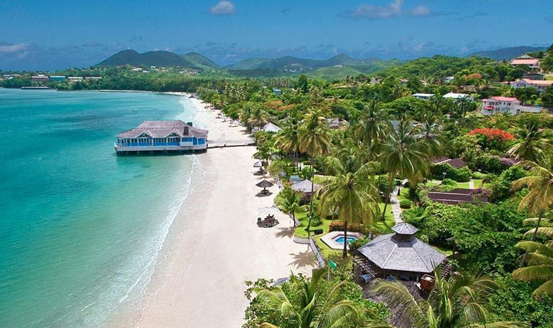 Sandals Halcyon Beach St Lucia Overview