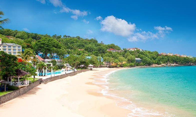 Destination weddings bahamas - Sandals La Toc Wedding Modern Destination Weddings