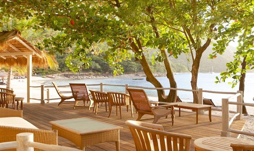 Bayside Beach Bar Jalousie Plantation St Lucia