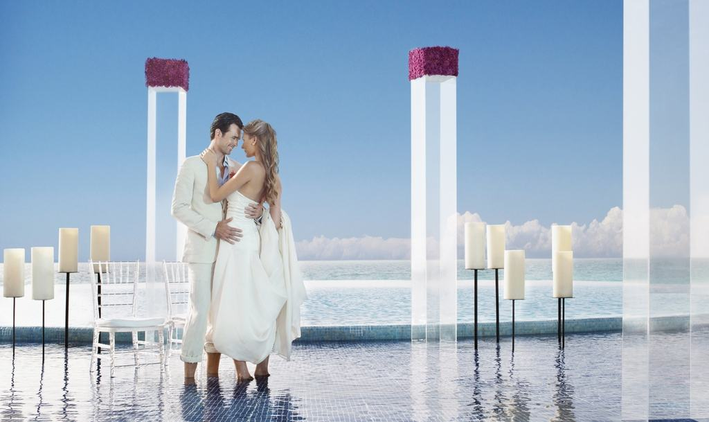 Cancun Weddings   Live Aqua Cancun Wedding Modern Destination Weddings