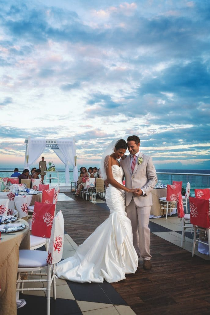 Azul Fives Hotel Wedding Modern Destination Weddings