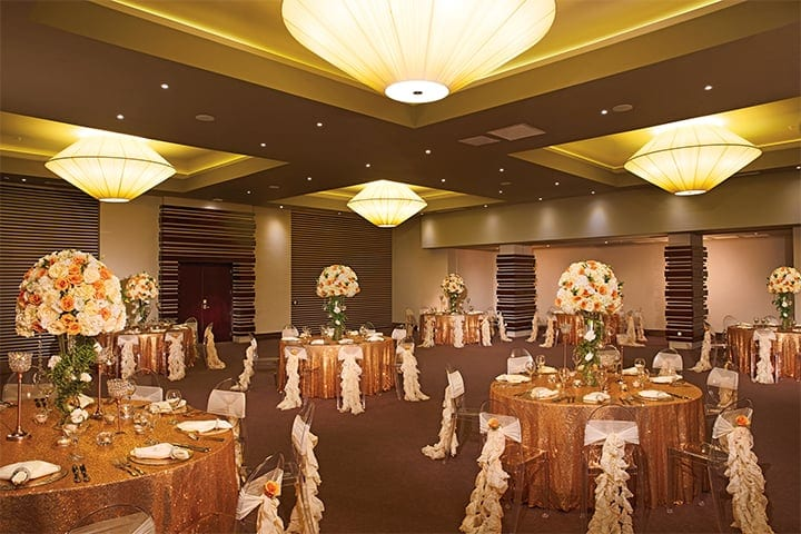 Menu And Reception Set Up At Sibonne In The Turks And: Modern Destination Weddings