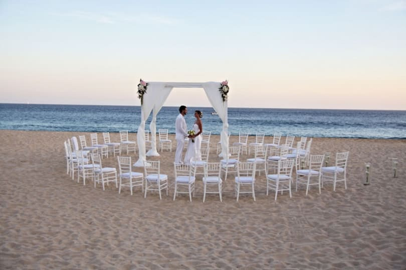 Menu And Reception Set Up At Sibonne In The Turks And: Sandos Finisterra Los Cabos Wedding